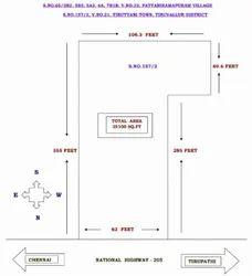 Empty Land For Sale, Size/ Area: 25100 Sqft