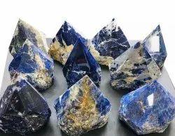 Sarvar Agate Blue Crystal point rough natural stone