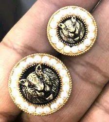 Golden Metal Lion Coat Button, Size/Dimension: 20mm