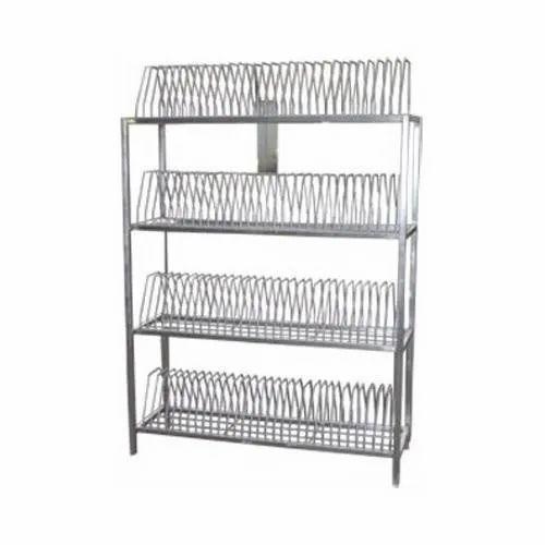 Stainless Steel Plate Storage Rack, Plate Storage Rack