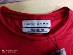 Full Sleeves White Zara Man T Shirts, Size: Medium