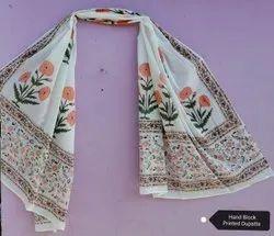Hand Block Cotton Dupatta