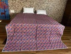 Hand Block Printed Kantha Quilt Bedspread
