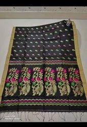 Handloom Peacock Jamdani Sarees