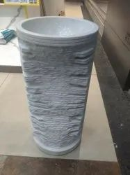 White Marble Pedestal Wash Basin, For Home