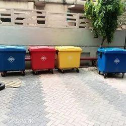 4 Wheeled Garbage Bin 1100 Ltr