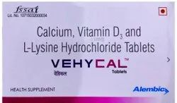 Calcium Vehycal tablets, Packaging Type: Strip, Packaging Size: Box