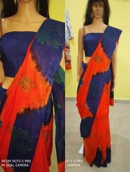 Casual Wear Fancy Art Silk Saree, 1 M, 5.5 m (separate blouse piece)