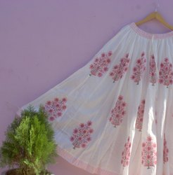 Women Block Print Skirt