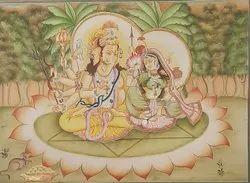 Ganesh ji paper painting