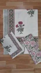 Double Hand Block  Bedsheet