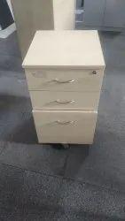 Modern White Used Wooden Pedestal Drawer