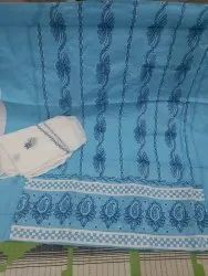 Lucknowi COTTON SUIT With Georgette Duppata