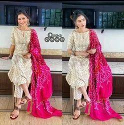 Butti Fabric with Silk Lining Butti Kurta Women Clothing