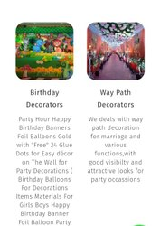 Birthday And Way Path Decorators, in Pan India