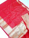 Cotton Monika Zari Booti Silk Saree