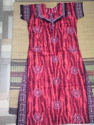 Ladies Night Wear Printed Frill Nighty, Size: XL