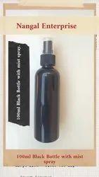 100ml Black Bottle With Mist Spray