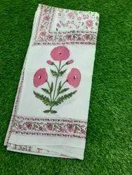 Hand Block Flower Printed Cotton Ladies Dupatta