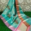 Banarasi Tissue Printed Sares