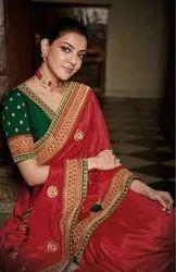 Sana Silk Sarees With Embroidery