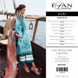 Pakistani Unstitch Elan lawn 2020