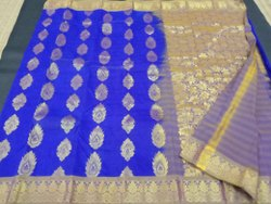 Silk Embossed Sarees, 6.3 m (with blouse piece), Hand Made