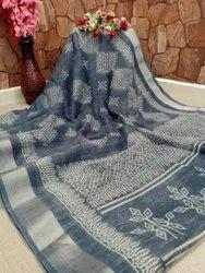 Ligalz Presenting New Cotton Zari Patta Saree With Blouse