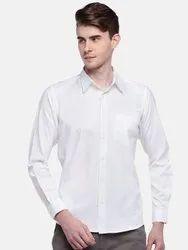 100% supima cotton Mens Full Sleeve Wrinkle Free White Shirt