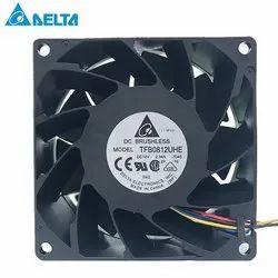 Delta Fan TFB0812UHE -5H2L DC12V 2.34AServer Square Inverter Axial Cooling Fans 80x80x38mm