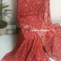 Red Chikankari Saree