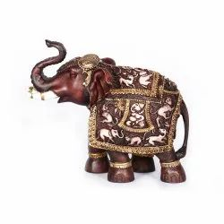 matte brown RESIN Elephant sculpted statue for Home Decor