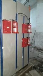 Mild Steel Clean Agent Fire Detection Tubing Suppression Supplier, For Electrical Panel, Capacity: 2kg