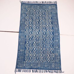 Indigo Cotton Rugs Durries