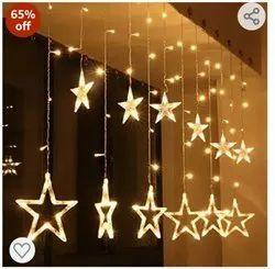 Copper Diwali Lights Stars, Lighting Color: Warm White