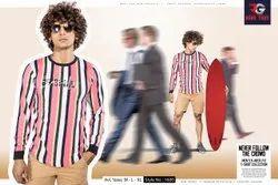 Cotton Multicolor Full Sleeve T Shirt
