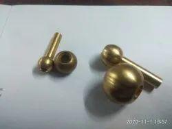 Golden Brass Finish Coolant Balls, For Hardware Fitting