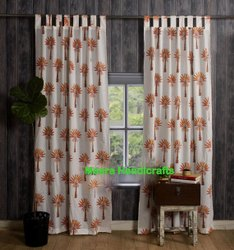 Beautiful Palm Tree Printed Curtains