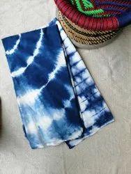Blue Shibori Dyed Fabric, For Garments, GSM: 50-100