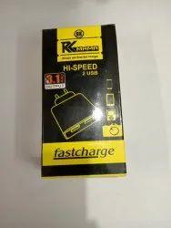 White Robotek USB Charger 2.4Amp