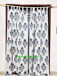 Hand Block Beautiful Print Home Decor Curtain