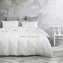 White Cotton Handloom Duvet Cover