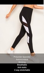 Polyester And Spandex Plain Yoga Sports Leggings For Women