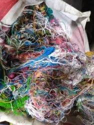 Cotton, Polyster Dyed Polyester Cotton Yarn Waste, For Knitting, Packaging Type: Loose