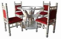 Round Dinning Set, Seating Capacity: 4, Size: 2.5x2.5x2.5 Feet