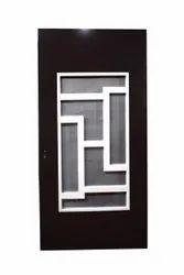 Brown Polished Steel Jali Door, Single, Thickness: 45 Mm