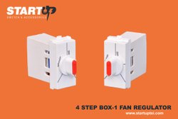 startup Plastic 4 Step Fan Regulator box, Number Of Modules: 1 Modular, 240 V