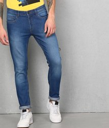 Cotton Plain Mens Jeans, Waist Size: 32