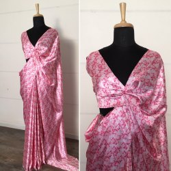 Japan Pure Satin Silk Saree