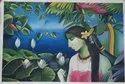 Radha Krishna modern oil painting on canvas